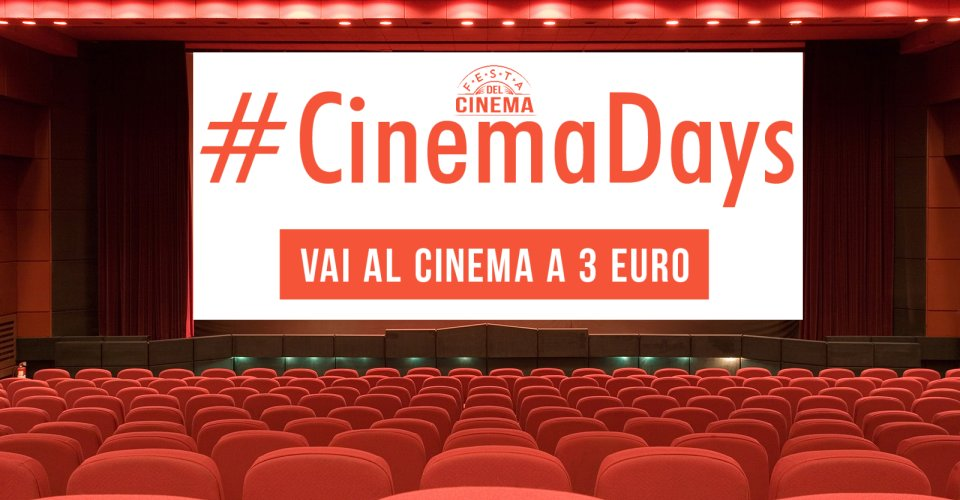 Cinemadays: 15 giorni di cinema a 3 euro