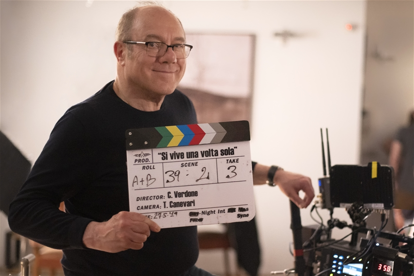 "Carlo Verdone shooting ""You Only Live Once"""